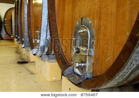 Wine Casks Or Barrels