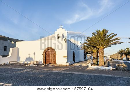 Church In Small Village Of Femes In Late Afternoon