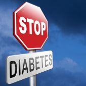 stop diabetes eat less sugar go on a diet and eat healthy prevention poster