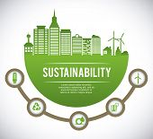 eco sustainibility design, vector illustration eps10 graphic poster