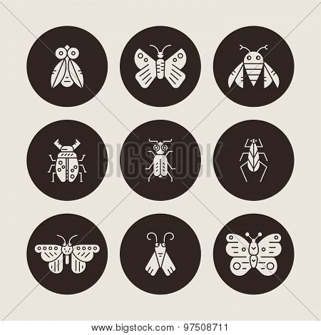 Silhouette Bugs