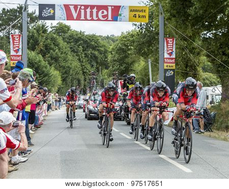 Bmc Racing Team - The Winner Of Team Time Trial 2015