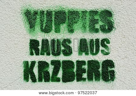 protest against yuppies in Berlin