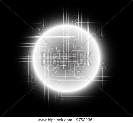 Abstract black background global communications concept