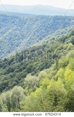 beautiful mountain scenery of the North - Western Caucasus