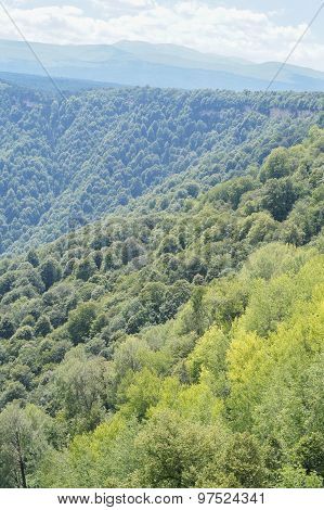 The unique mountain scenery of the Caucasus Nature Reserve