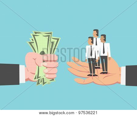 Businessman Buying Employee