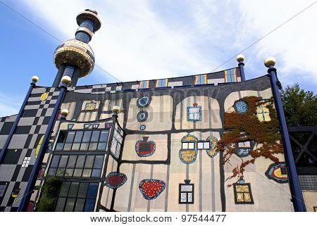 Facade Shpitelau Incinerator In Vienna