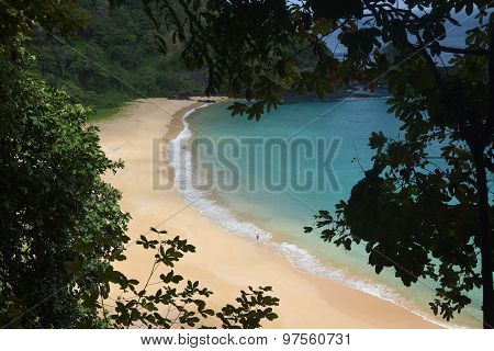 Crystalline sea beach in Fernando de Noronha,Brazil