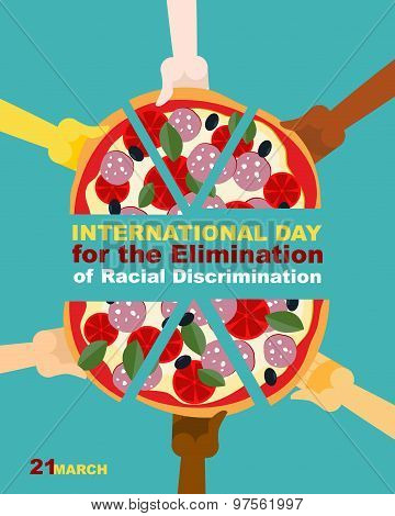 International Day For The Elimination Of Racial Discrimination. 21 March. People Of Different Race E