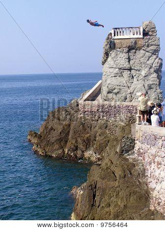 Cliff divers in Mazatlan, Mexico