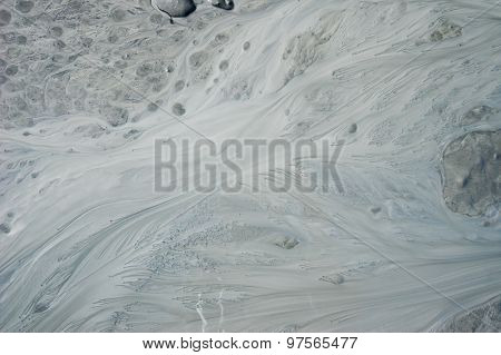 Flow Of Silty Stream In Alaska