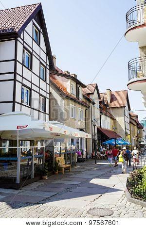 Tenement Houses At Mariacka Street In Kolobrzeg