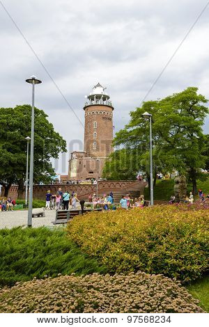 The Lighthouse In Kolobrzeg In Poland