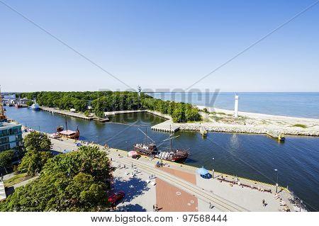 The Port Canal In Kolobrzeg