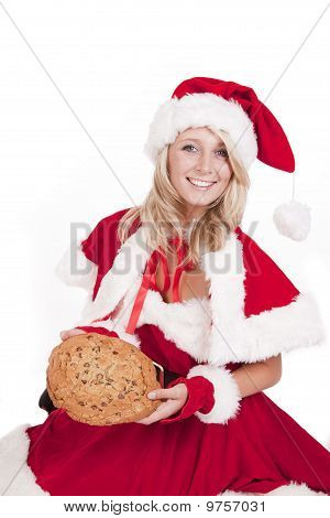 Santas Helper Big Cookie Sit Smile