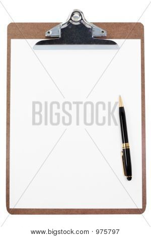 Clipboard And Blank Paper