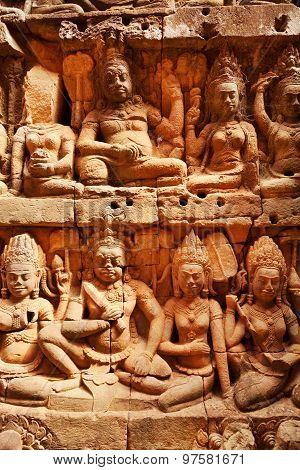 Terrace Of The Leper King, Angkor Wat, Cambodia