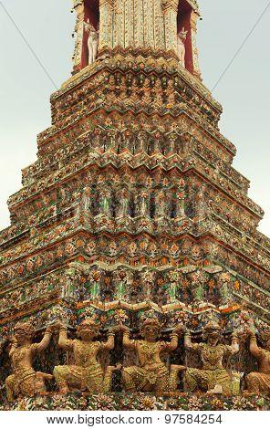 Wat Arun Rajwararam or Temple of the Dawn is a Buddhist temple (wat) in the Bangkok Yai district of Bangkok Thailand on the Thonburi west bank of the Chao Phraya River. The full name of the temple is Wat Arunratchawararam Ratchaworamahawihan. poster