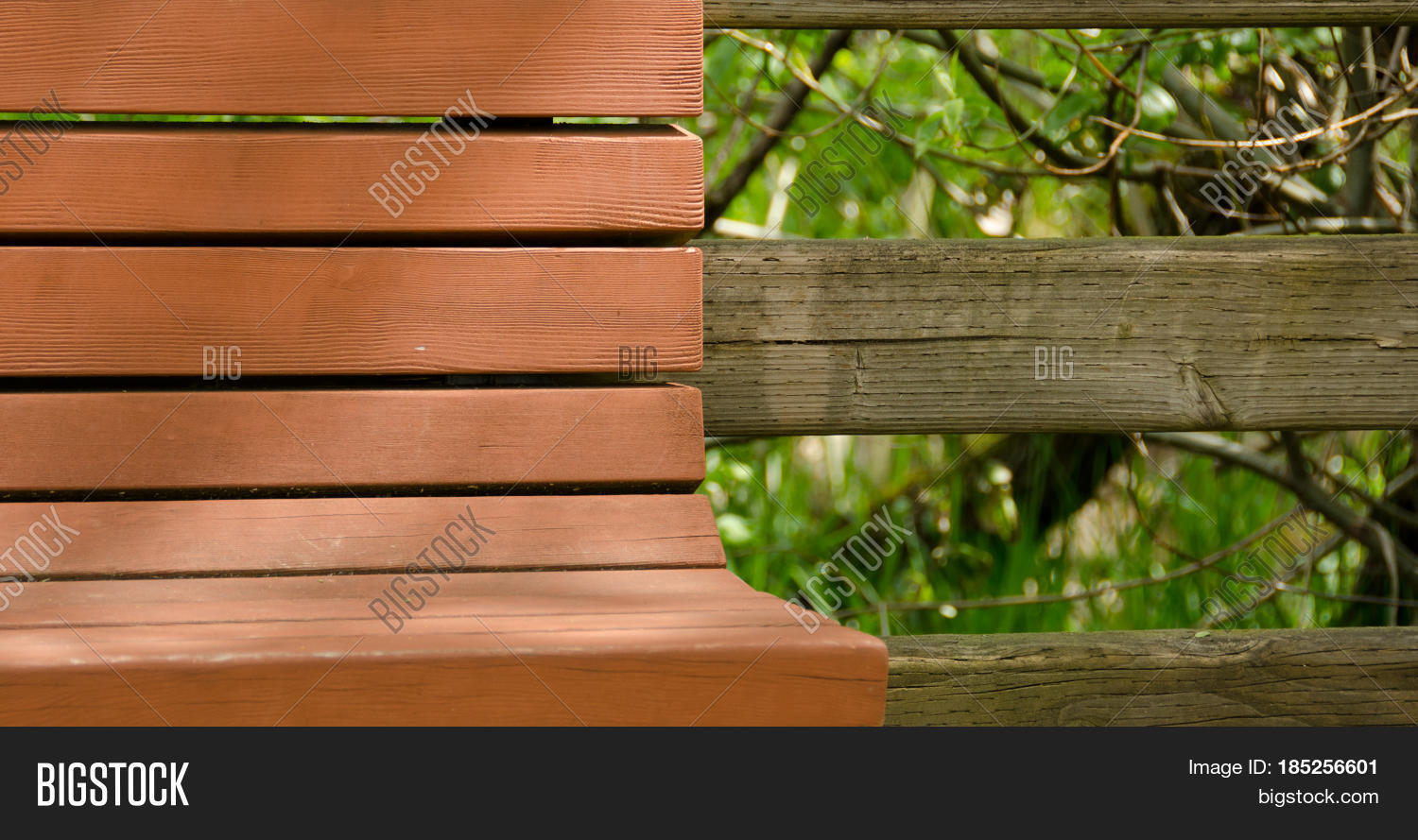 Super Brown Painted Bench Image Photo Free Trial Bigstock Ncnpc Chair Design For Home Ncnpcorg