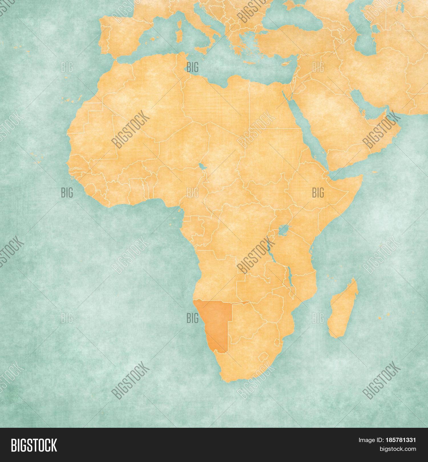 Map Africa - Namibia Image & Photo (Free Trial) | Bigstock