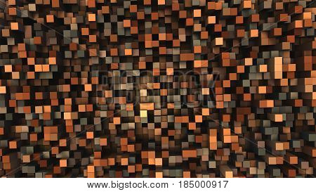 3D Geometric background from cubes, 3D illustration