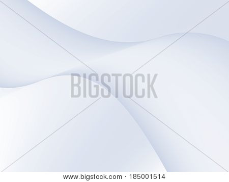 Simple elegant white grey abstract fractal background with a wave in the middle. Shading effect creates a spatial feel. For office business marketing creative designs cards pamphlets leaflets.