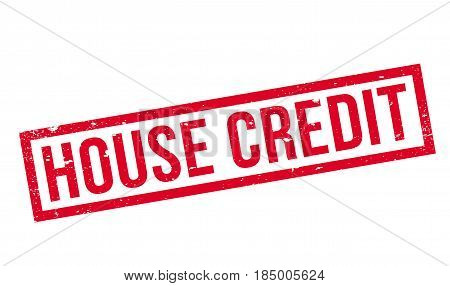 House Credit rubber stamp. Grunge design with dust scratches. Effects can be easily removed for a clean, crisp look. Color is easily changed.