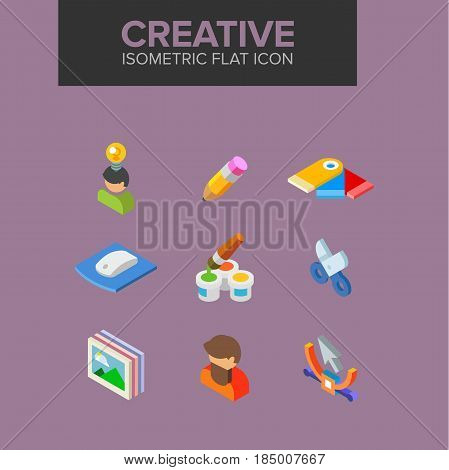 Creative isometric icon. Fully editable Illustration vector