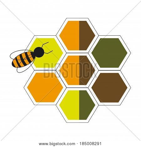 bee hive team work community concept vector illustration
