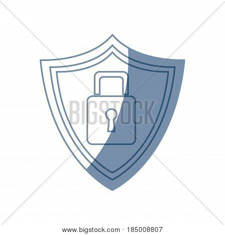 security technology padlock shield internet vector illustration
