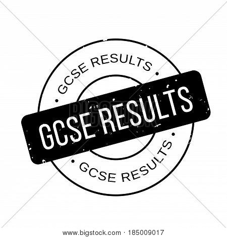 Gcse Results rubber stamp. Grunge design with dust scratches. Effects can be easily removed for a clean, crisp look. Color is easily changed.