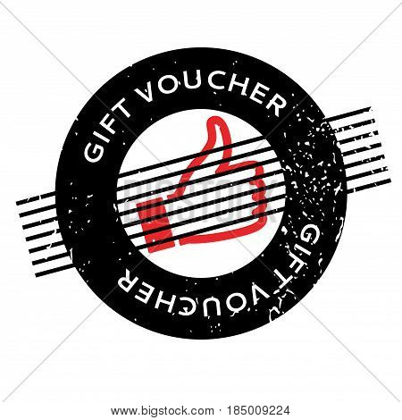 Gift Voucher rubber stamp. Grunge design with dust scratches. Effects can be easily removed for a clean, crisp look. Color is easily changed.