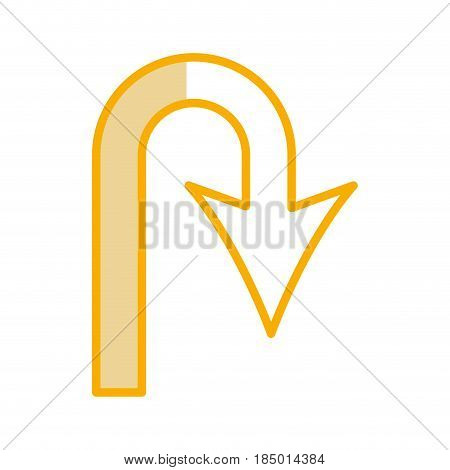 u turn arrow traffic signal icon vector illustration design