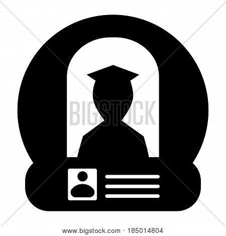 Pilot license identification vector icon. aps 10