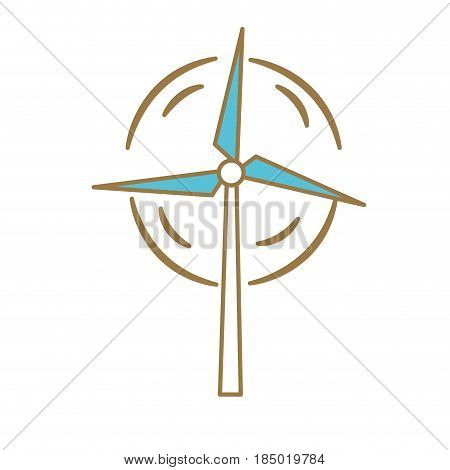 nature and organic windpower ecology care, vector illustration
