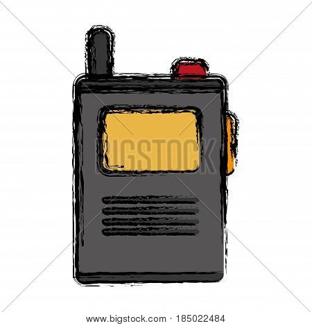 walkie talkie icon over white background. vector illustration