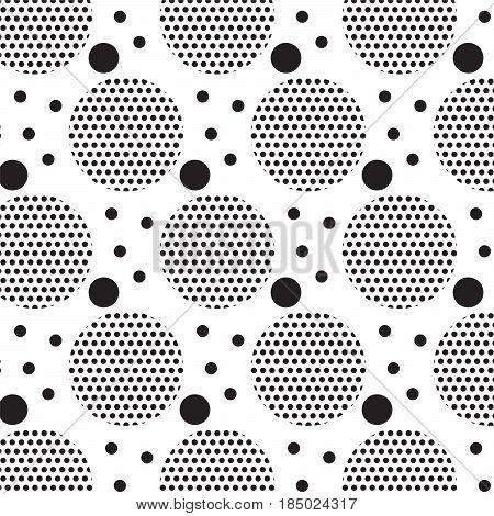 black circle and black dot inside pattern background vector illustration image