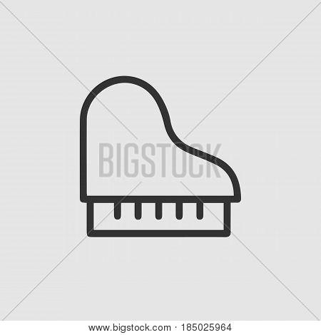 Piano vector icon eps 10. Grand piano illustration.