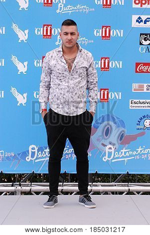Giffoni Valle Piana Sa Italy - July 17 2016 : Carmine Monaco at Giffoni Film Festival 2016 - on July 17 2016 in Giffoni Valle Piana Italy