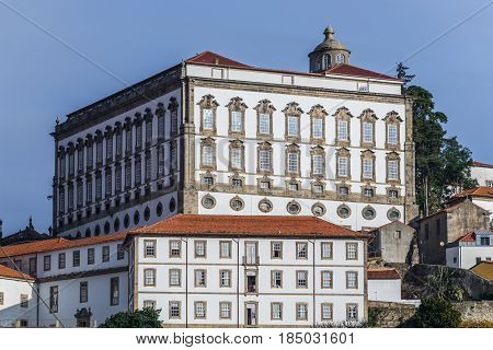 Bishop's Palace next to cathedral in Porto Portugal