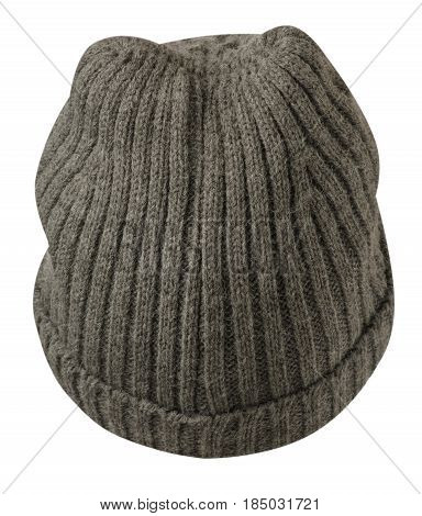 Women's Hat . Knitted Hat Isolated On White Background .gay Hat