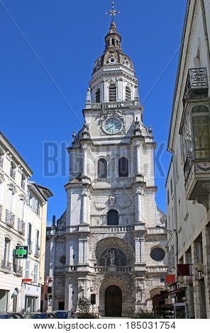 Notre Dame cathedral in Bourg-en,Bresse in France