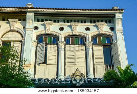 Old Architecture In George Town, Penang, Malaysia