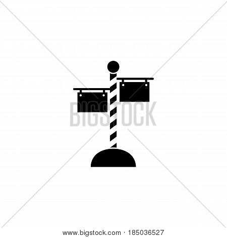Signpost solid icon, travel navigation, Road sign, a filled pattern on a white background, eps 10.