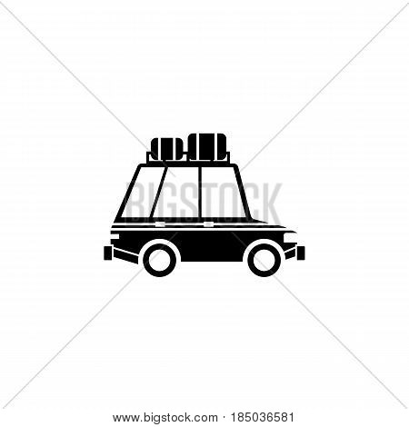 Travel Car solid icon, travel tourism, transport, a filled pattern on a white background, eps 10.