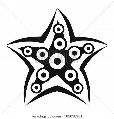 Starfish icon in simple style isolated vector illustration
