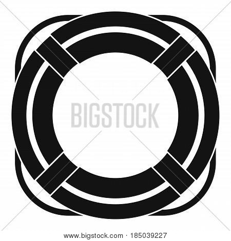 Lifebuoy icon in simple style isolated vector illustration