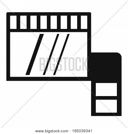 Memory card icon in simple style isolated vector illustration