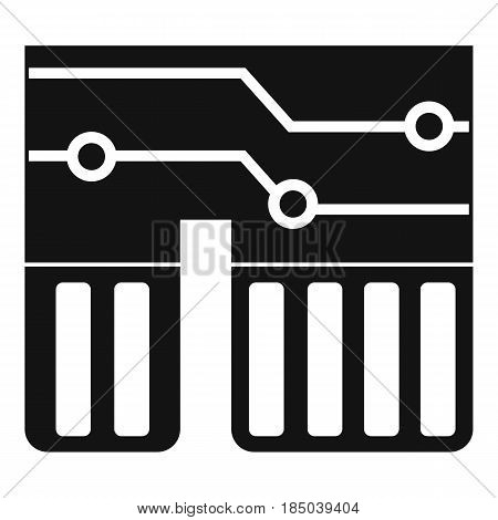 Computer chipset icon in simple style isolated vector illustration